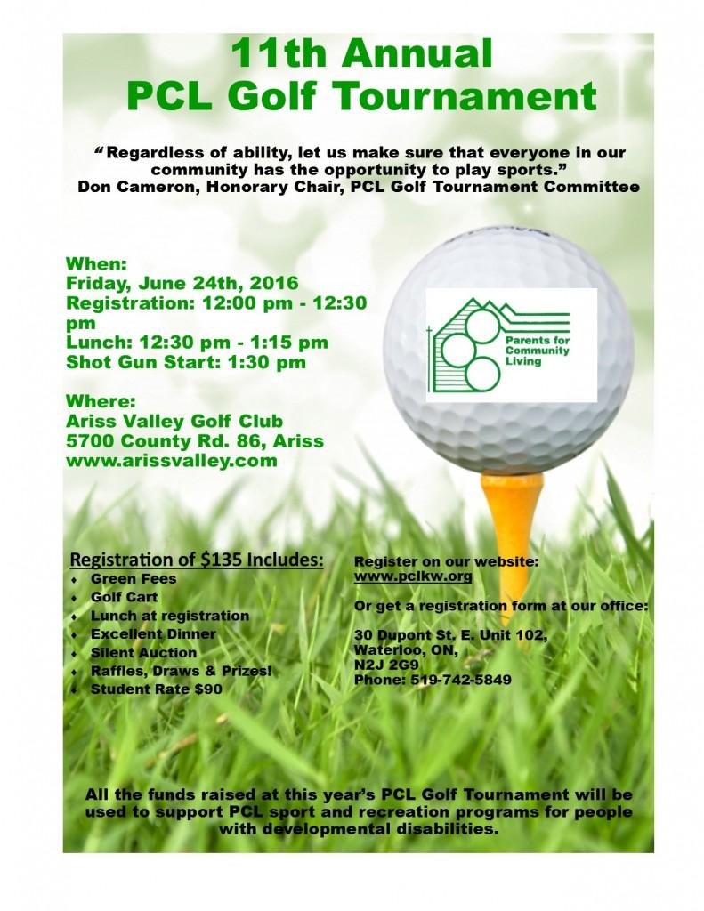 Golf Tournament Poster 2016