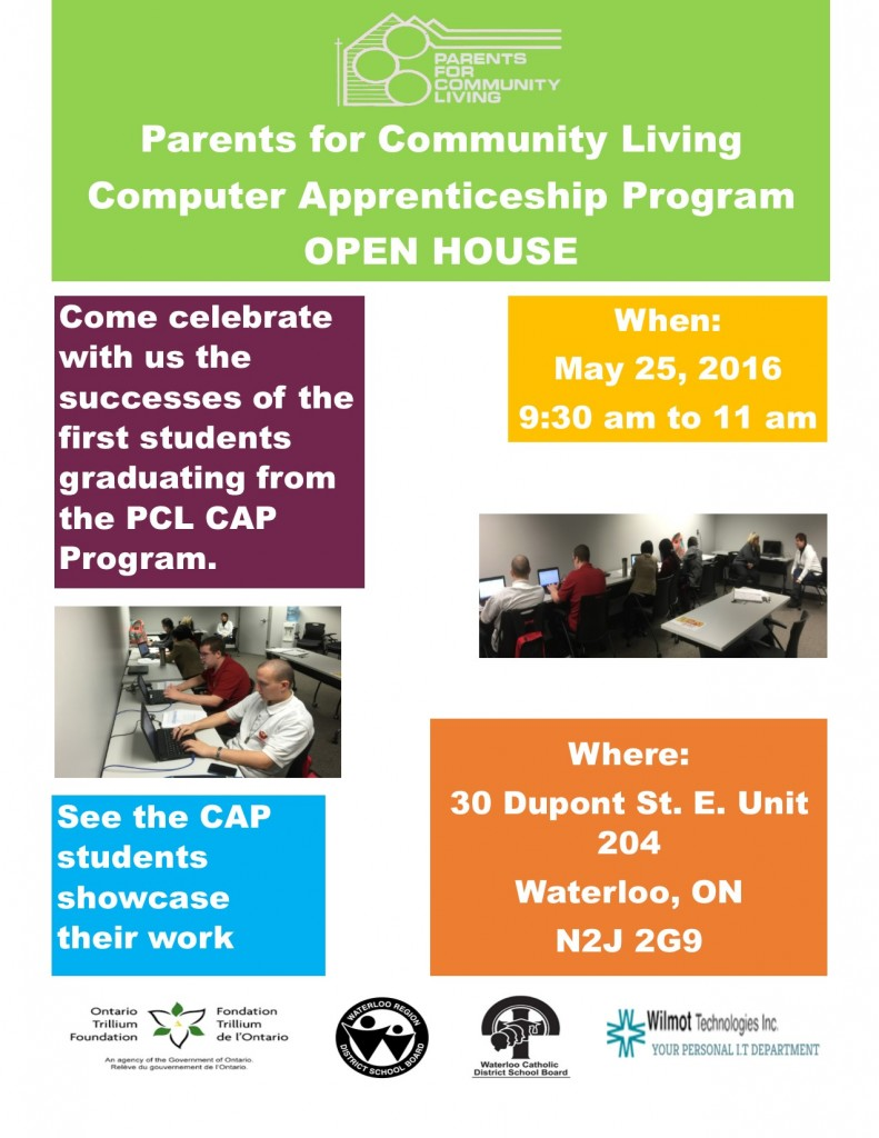 CAP Open House Flyer, April 2016