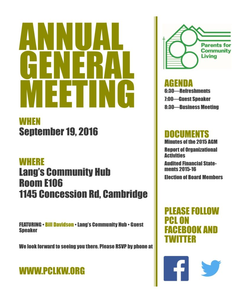 Invitation, AGM 2016