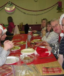 Christmas Party 2010 - Eating dinner