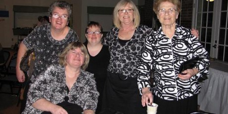 Paula with housemates