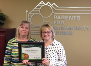 Brenda and MaryAnne with Health Award