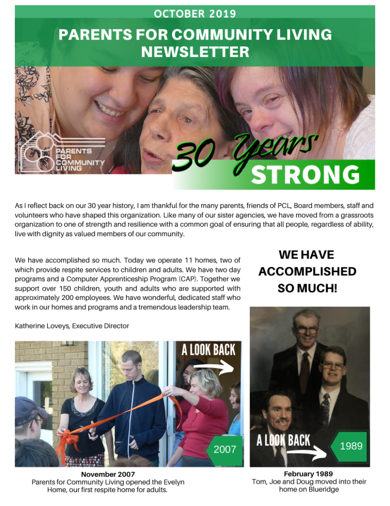 PCL Fall Newsletter 2109